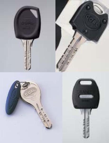 GOAL RF(非接触)キー 店舗ですぐコピーすることができます。※デザインが変わり、センサーと鍵が一体型ではなく別々になります。