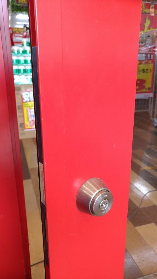 外側は鍵で解錠
