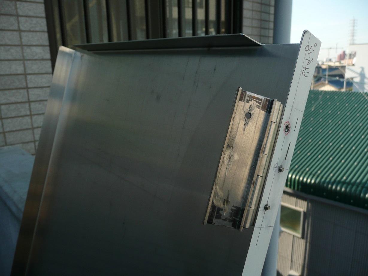 図面通りに完成した特注ステンレス扉