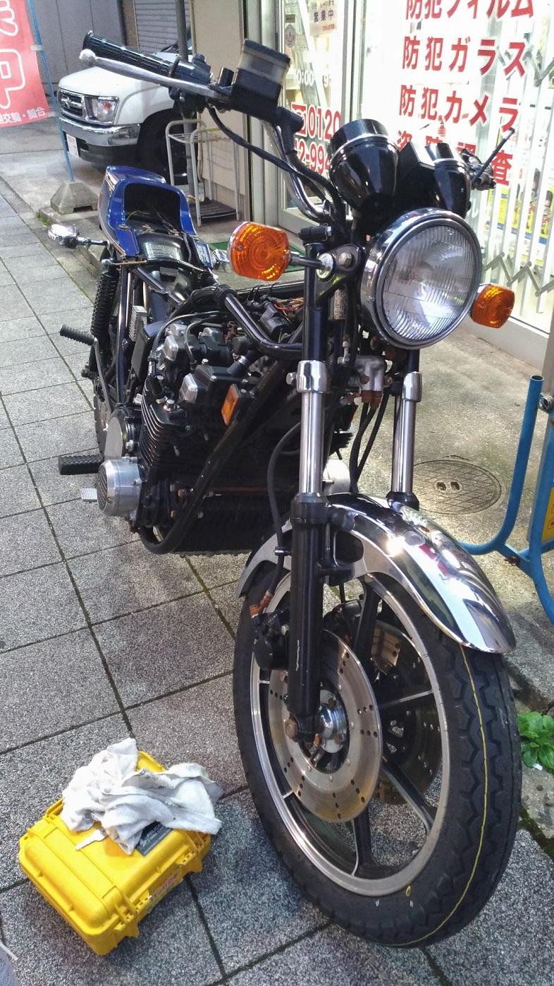 古いバイクを大事に乗るっていいですね!