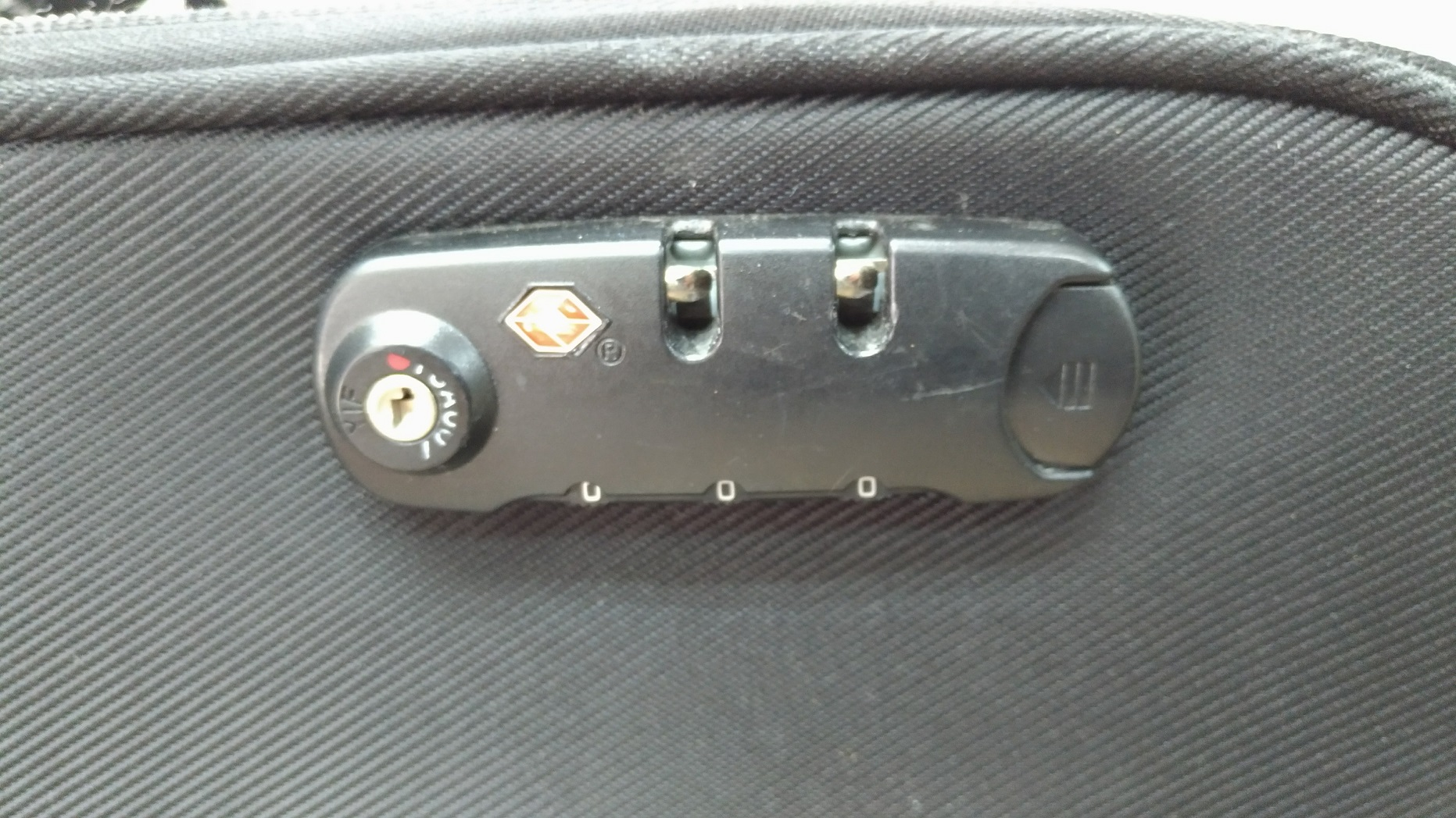 TSAロック付きのダイヤルタイプ