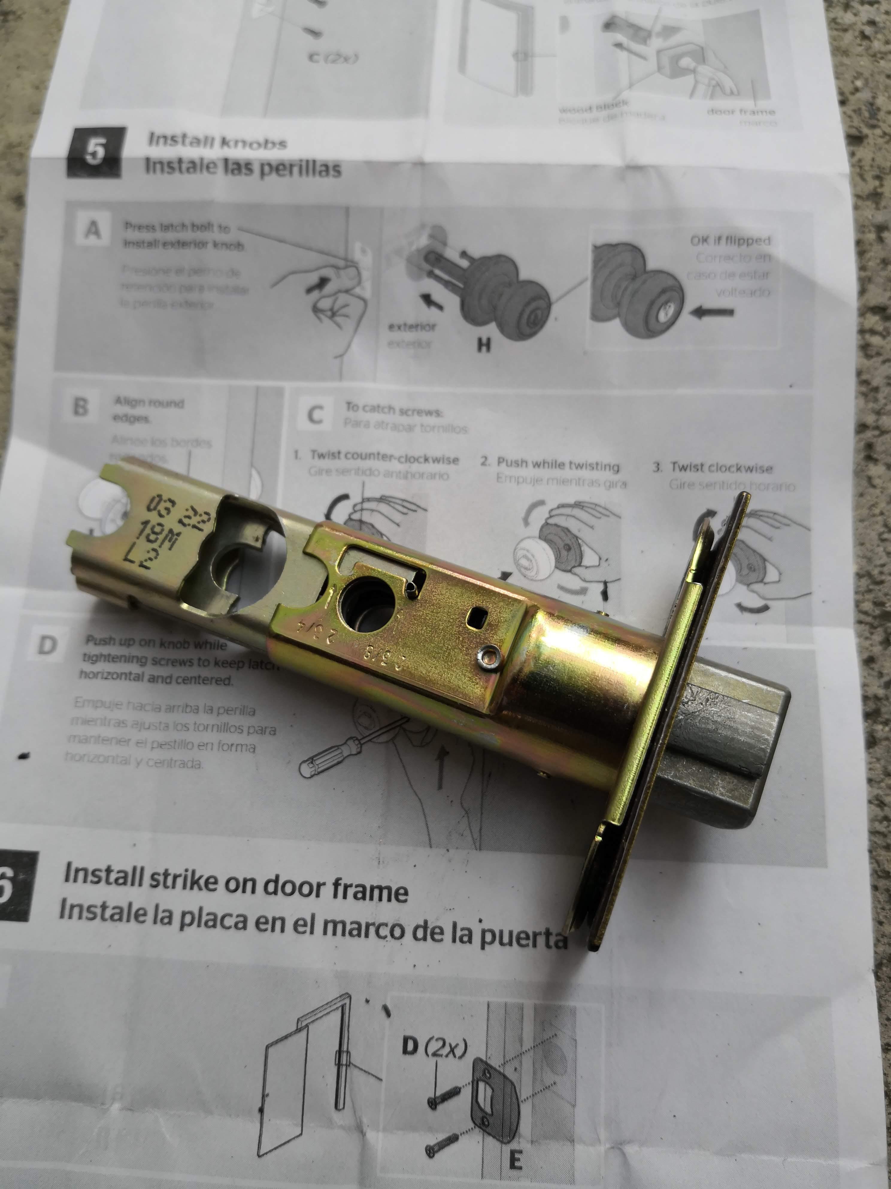 このラッチはバックセット50mmと60mmどちらでも対応できる優れものです。