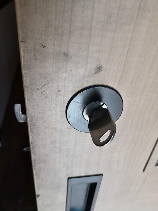 鍵は問題なく開け閉めできます。