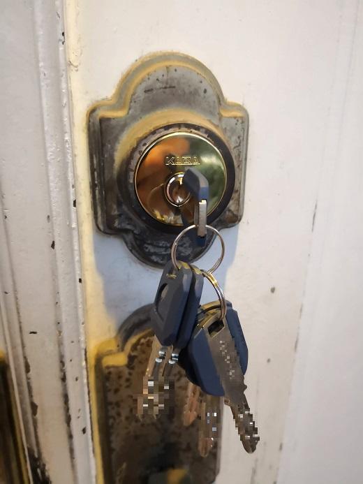 シリンダー一個につき鍵3本付きなので2個同一にすると鍵6本付きとなります。