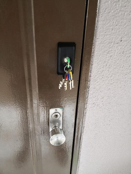 室外側から kaba6523 鍵5本付き