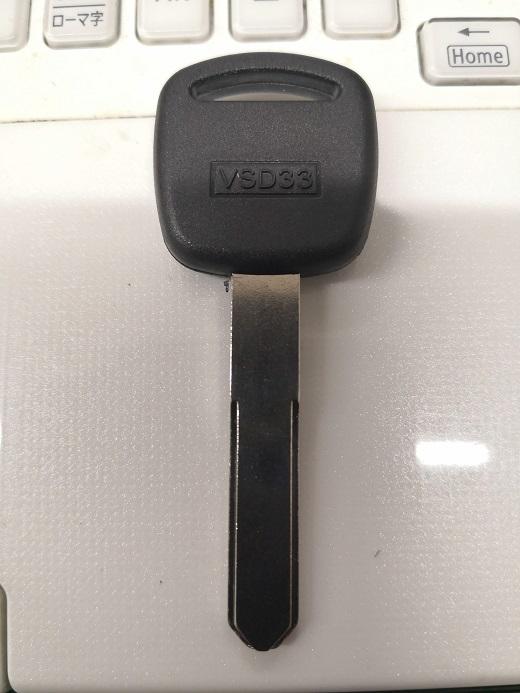 ホンダの自動車用ブランクキー「MT-7」にはセンター溝が入っていません。