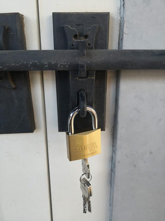 ABUS ディンプルキー南京錠 EC75-50mm 鍵3本付き